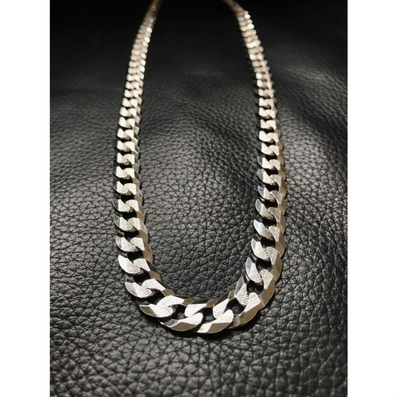 Harlembling Other - Mens Flat Miami Cuban Link Chain Solid 925